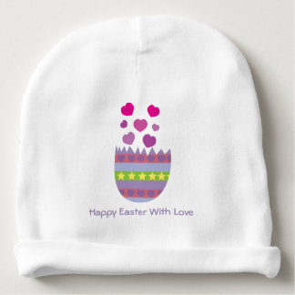 Happy Easter with Love Easter Egg Baby Beanie