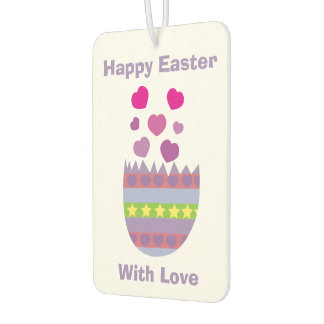 Happy Easter with Love Easter Egg Car Air Freshener