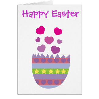 Happy Easter with Love Easter Egg Card