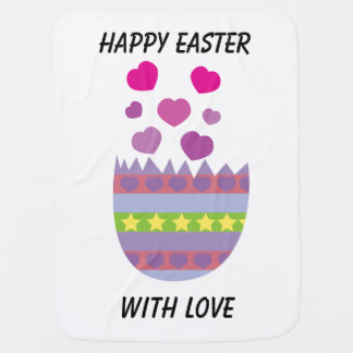 Happy Easter with Love Easter Egg Swaddle Blanket