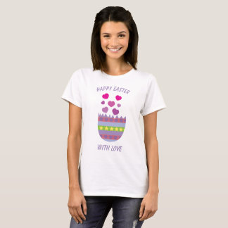 Happy Easter with Love Easter Egg T-Shirt