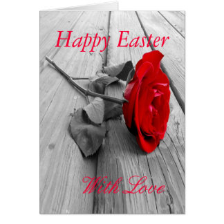 Happy Easter with love Greeting Cards