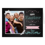 Happy Easter With Love Personalized with Photo Greeting Card