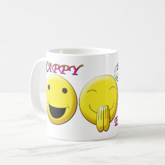 Happy Easter with smiley images Classic Mug
