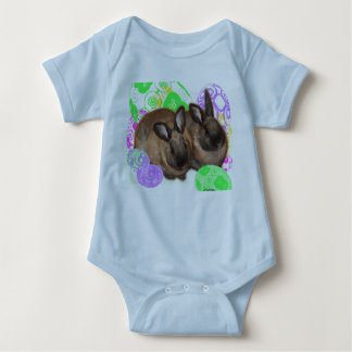 Happy Easter with Two Easter Bunnies & Easter Eggs T-shirt