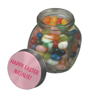 HAPPY EASTER! with Your Name Personalizable Jelly Belly Candy Jars
