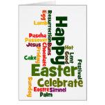 Happy Easter Word Cloud Card