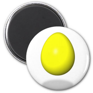 Happy Easter - Yellow Egg Refrigerator Magnet
