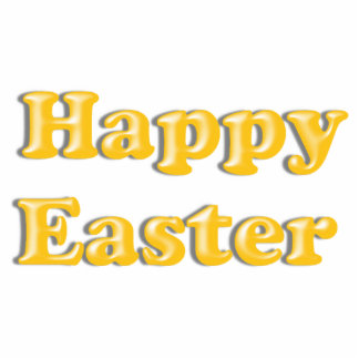 HAPPY EASTER Yellow Text Design Cut Out