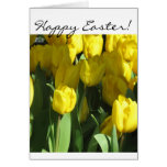 Happy Easter Yellow Tulips greeting card