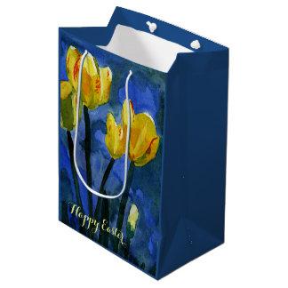 Happy Easter Yellow Tulips Medium Gift Bag