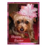 Happy Easter Yorkie Postcard
