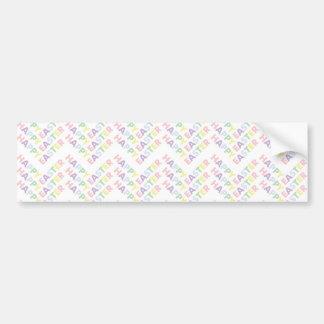 Happy Easter Zig Zag Pattern Car Bumper Sticker