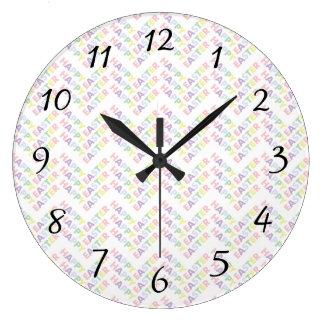 Happy Easter Zig Zag Pattern Clocks