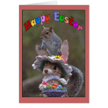 Happy EasterFeaturing cute, funny image of Squirre Card