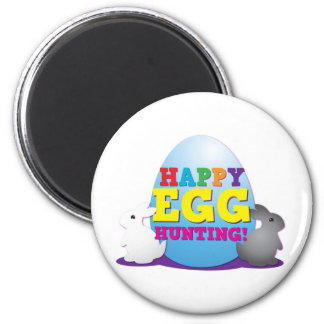 Happy EGG hunting! 2 Inch Round Magnet