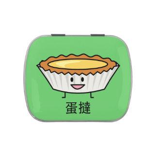 Happy Egg Tart Custard crust Chinese dessert Candy Tins