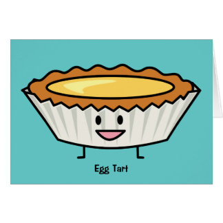 Happy Egg Tart Custard crust Chinese dessert Card