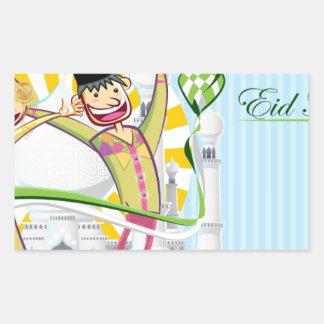 Happy Eid Mubarak Rectangular Sticker
