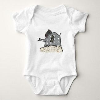 Happy Elephant Baby Bodysuit