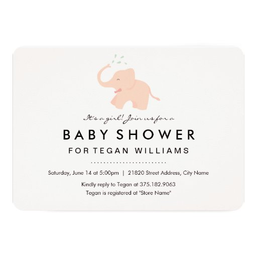 happy elephant baby shower invitation zazzle