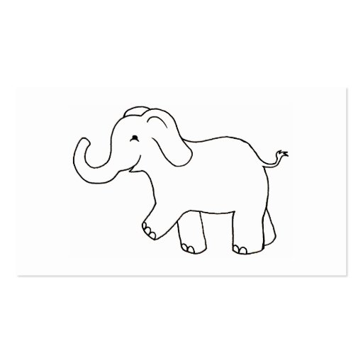 Happy Elephant - Fun cute whimsical art CUSTOMIZED Double-Sided Standard Business Cards (Pack Of 100)