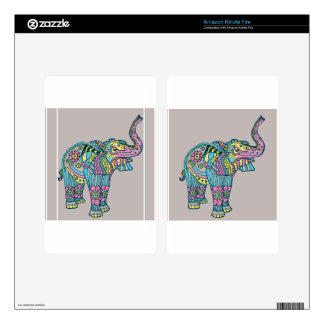 Happy Elephant Kindle Fire Decals
