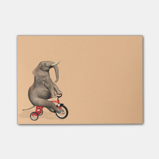 Happy Elephant On Tricycle Post-it Notes