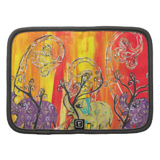 Happy Elephant Parade Rickshaw Folio Organizer