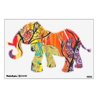 Happy Elephant Parade Wall Decals