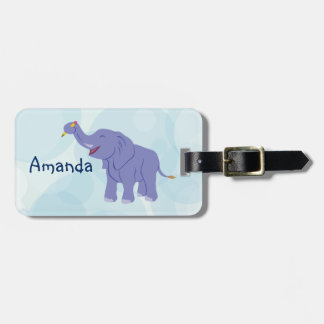 Happy Elephant (personalize) Bag Tag