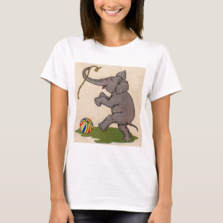 happy elephant playing with rope and ball T-Shirt