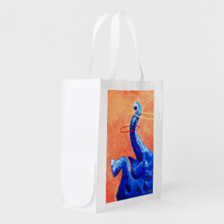 Happy Elephant Reusable Grocery Bag