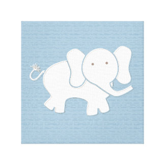 Happy Elephant Wrapped Canvas Canvas Print