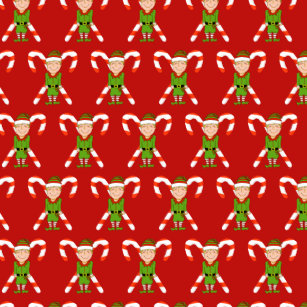 Happy Elf Christmas Shower Curtain