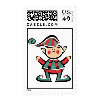 Happy Elf Postage Stamp