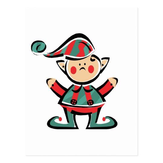 Happy Elf Postcard