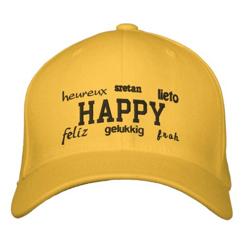 Happy - Embroidered Hat