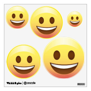 Happy Emoji Face Wall Decals 5 Sizes