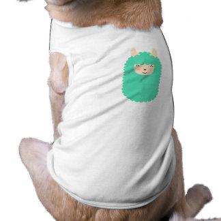 Happy Emoji Llama Dog Shirt