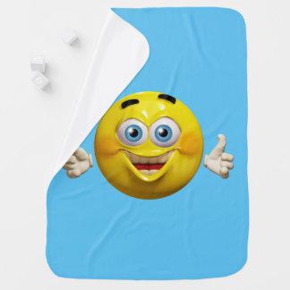 Happy emoticon baby blanket for baby boy