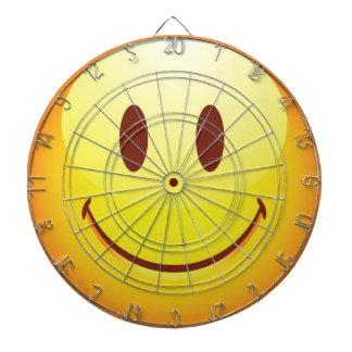 Happy Emoticon Dartboard With Darts