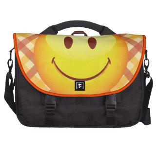 Happy Emoticon Laptop Bags