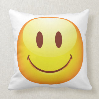 Happy Emoticon Throw Pillow