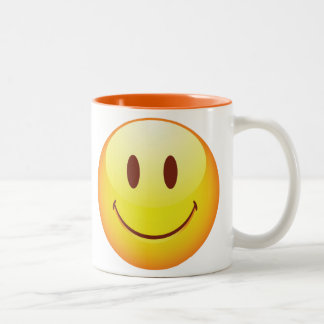 Happy Emoticon Two-Tone Coffee Mug