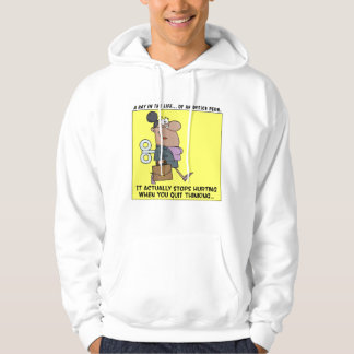 Happy Employees Stop Thinking Hooded Pullovers