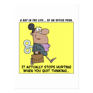Happy Employees Stop Thinking Postcard