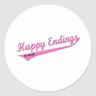 Happy Endings My Speciality Classic Round Sticker