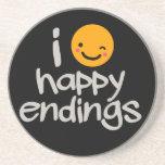 Happy Endings Sandstone Coaster