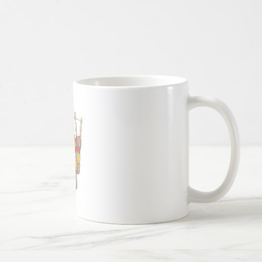 Happy Englishman Potato Playing Flute Coffee Mugs